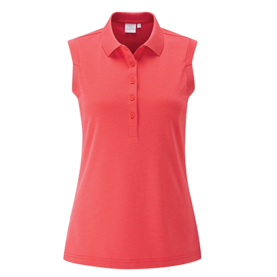 PING Golf Ladies Sleeveless Golf Polo - Cayenne