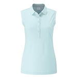 PING Golf Ladies Sleeveless Golf Polo - Surf Blue