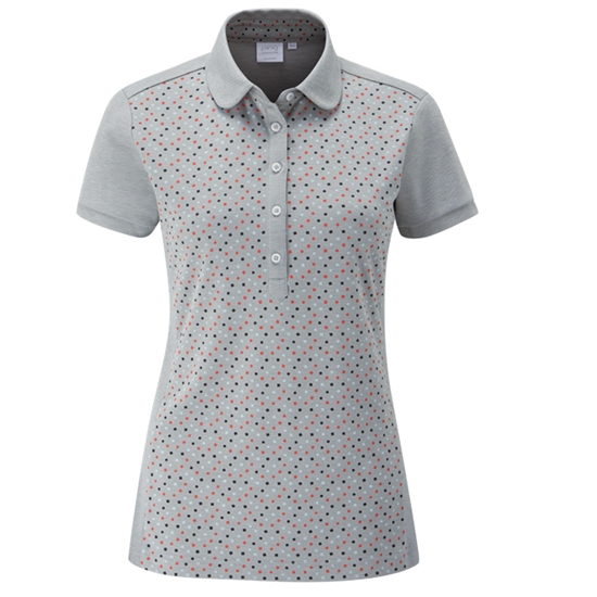PING Rae Short Sleeve Polo- Mineral Marl Multi