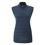 PING Tate 1/2 Zip Knitted Merino Wool Vest - Navy