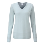 PING Bonnie V-Neck Sweater - Surf Blue