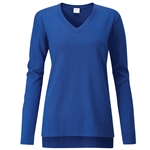 PING Dropped-Hem V Neck Sweater - Cobalt