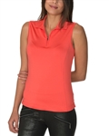 Chase54 Cosmo Sleeveless Polo - Spiced Coral