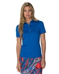 Chase54 Leisure Short Sleeve Polo - Cobalt