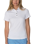 Chase54 Leisure Short Sleeve Polo - White