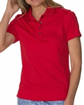 Chase54 Brooklyn Short Sleeve Polo - Crimson