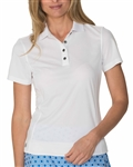 Chase54 Brooklyn Short Sleeve White Polo