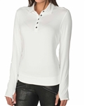 Chase54 Meridian Long Sleeve Polo - White