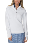 Chase54 Pursuit Mockneck Pullover - White