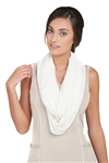 Chase54 Ladies Payton Infinity Scarf- Pearl | Golf4Her