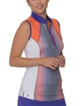 Chase54 Neon Sleeveless Golf Polo