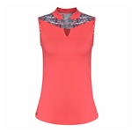 Chase54 Shore Sleeveless Mock - Spiced Coral