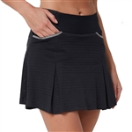 "Chase54 Frill 15"" Big Hole Mesh Skort - Black"