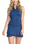 EllaBelle Sleeveless Chacha Dress - Navy