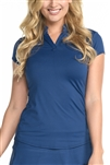 EllaBelle Perfection Short Sleeve Top - Navy