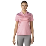 Adidas Merch Stripe Polo - Easy Pink Heather
