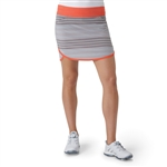 Adidas Rangewear Fashion Golf Skort - Light Grey Heather/Easy Coral