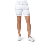 "Adidas Essentials 7"" Painted Stripe Short - White/Grey"