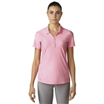 Adidas Essentials Jacquard Short Sleeve Polo - Easy Pink