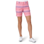 "Adidas Essentials 7"" Painted Stripe Short - Easy Pink"