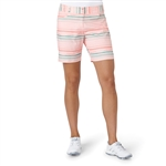 "Adidas Essentials 7"" Painted Stripe Short - Haze Coral"