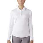 Adidas Performance Long Sleeve Polo - White