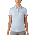 Adidas 3-Stripes Tipped Polo - Easy Blue/ Core Red