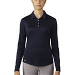Adidas Performance Long Sleeve Polo - Navy