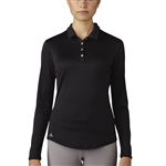 Adidas Performance Long Sleeve Polo - Black
