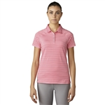 Adidas Double Stripe Short Sleeve Polo - Easy Pink