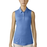 Adidas Performance Sleeveless Polo - Lucky Blue