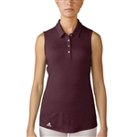 Adidas Performance Sleeveless Polo - Maroon