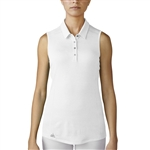Adidas Performance Sleeveless Polo - White