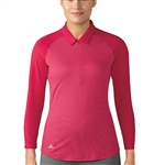 Adidas 3/4 Sleeve Zip Energy Pink Polo