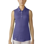 Adidas Performance Sleeveless Polo - Purple