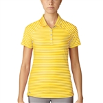 Adidas Double Stripe Short Sleeve Yellow Polo