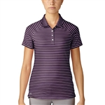Adidas Double Stripe Short Sleeve Red Night Polo
