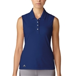 Adidas Essentials Cotton Hand Sleeveless Polo - Mystery Ink
