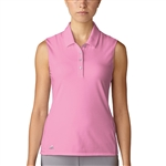 Adidas Essentials Cotton Hand Pink Sleeveless Polo