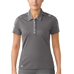 Adidas Printed Short Sleeve Trace Grey Polo