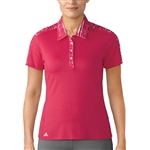 Adidas Printed Short Sleeve Energy Pink Polo