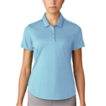 Adidas Microdot Short Sleeve Polo - Ice Blue