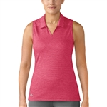 Adidas Tonal Stripe Sleeveless Energy Pink Polo