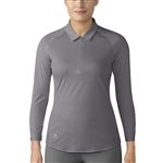 Adidas 3/4 Sleeve Zip Trace Grey Polo