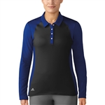 Adidas Midweight Long Sleeve Mystery Ink/Black Polo