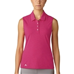 Adidas Essentials Cotton Hand Sleeveless Polo - Energy Pink