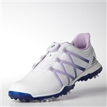 Adidas Womens Adipower Boost BOA Golf Shoe - White/Purple Glow