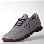 Adidas Womens Adipure Sport Grey Four/Red Night Golf Shoe