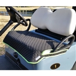 GolfChicBag Quilted Golf Cart Seat Cover Black/Green