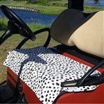 GolfChicBags Green/White Polka Dot Seat Cover